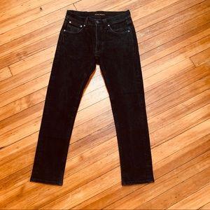 Nudie Jeans organic black denim skinny jeans 29/32